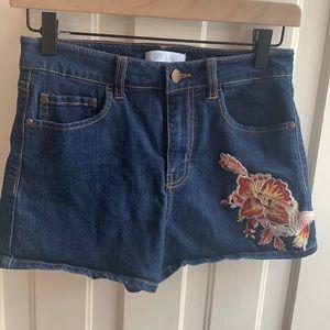 Abound Embroidered Denim Jean Shorts